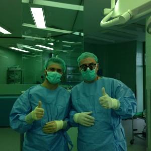 Dr Omerhodzic and Dr Arnautovic - Operating Room - Sarajevo, Nov. 2014